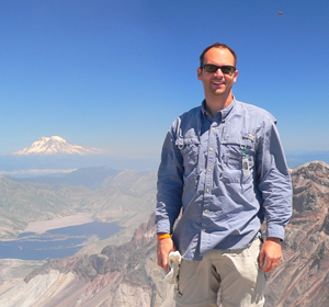 Dave at the top of Mount St. Helens.